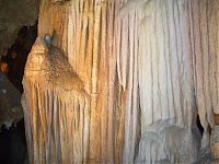 Luray Caverns: Calcium Carbonate dripstone Stalactites