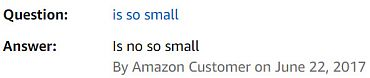 Amazon question and answer